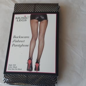 Black Backseam Fishnet Pantyhose